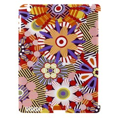 Flower Floral Sunflower Rainbow Frame Apple Ipad 3/4 Hardshell Case (compatible With Smart Cover) by Alisyart