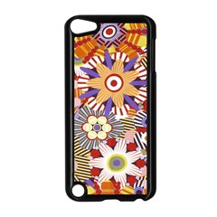 Flower Floral Sunflower Rainbow Frame Apple Ipod Touch 5 Case (black) by Alisyart