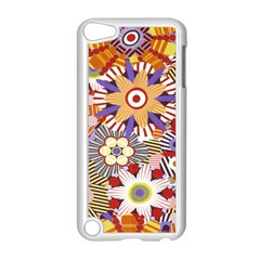 Flower Floral Sunflower Rainbow Frame Apple Ipod Touch 5 Case (white) by Alisyart