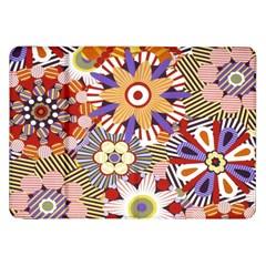 Flower Floral Sunflower Rainbow Frame Samsung Galaxy Tab 8 9  P7300 Flip Case by Alisyart