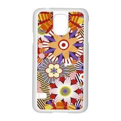 Flower Floral Sunflower Rainbow Frame Samsung Galaxy S5 Case (white) by Alisyart