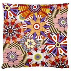 Flower Floral Sunflower Rainbow Frame Standard Flano Cushion Case (two Sides) by Alisyart
