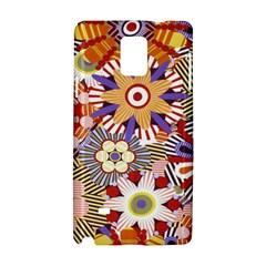 Flower Floral Sunflower Rainbow Frame Samsung Galaxy Note 4 Hardshell Case by Alisyart