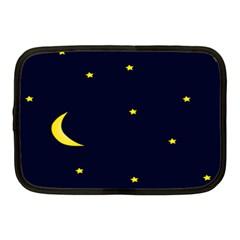 Moon Dark Night Blue Sky Full Stars Light Yellow Netbook Case (medium)  by Alisyart