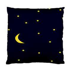 Moon Dark Night Blue Sky Full Stars Light Yellow Standard Cushion Case (two Sides) by Alisyart