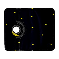 Moon Dark Night Blue Sky Full Stars Light Yellow Galaxy S3 (flip/folio) by Alisyart