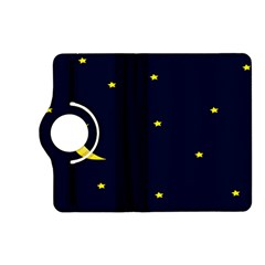 Moon Dark Night Blue Sky Full Stars Light Yellow Kindle Fire Hd (2013) Flip 360 Case by Alisyart