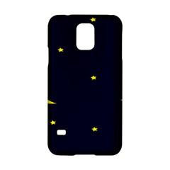 Moon Dark Night Blue Sky Full Stars Light Yellow Samsung Galaxy S5 Hardshell Case  by Alisyart
