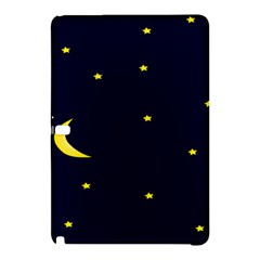 Moon Dark Night Blue Sky Full Stars Light Yellow Samsung Galaxy Tab Pro 10 1 Hardshell Case by Alisyart