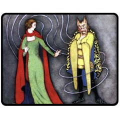 Beauty And The Beast Double Sided Fleece Blanket (medium)  by athenastemple