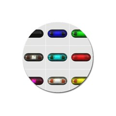 9 Power Button Magnet 3  (round) by Simbadda