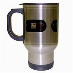 9 Power Button Travel Mug (silver Gray) by Simbadda