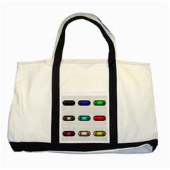 9 Power Button Two Tone Tote Bag by Simbadda
