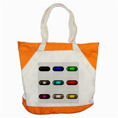 9 Power Button Accent Tote Bag by Simbadda