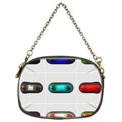 9 Power Button Chain Purses (two Sides)  by Simbadda