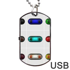 9 Power Button Dog Tag Usb Flash (one Side) by Simbadda