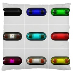 9 Power Button Large Cushion Case (two Sides) by Simbadda