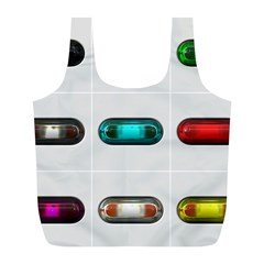 9 Power Button Full Print Recycle Bags (l)  by Simbadda