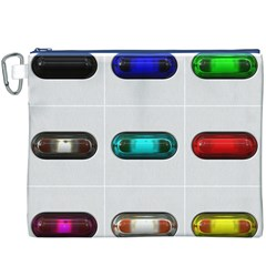 9 Power Button Canvas Cosmetic Bag (xxxl) by Simbadda