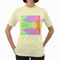 Abstract Background Colorful Women s Yellow T Shirt by Simbadda
