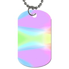 Abstract Background Colorful Dog Tag (one Side) by Simbadda