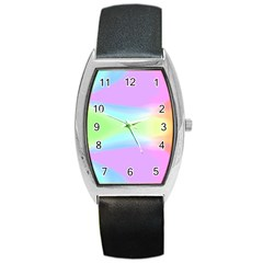 Abstract Background Colorful Barrel Style Metal Watch by Simbadda
