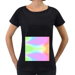 Abstract Background Colorful Women s Loose Fit T Shirt (black) by Simbadda
