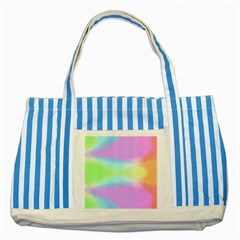 Abstract Background Colorful Striped Blue Tote Bag by Simbadda