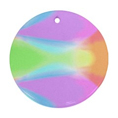 Abstract Background Colorful Round Ornament (two Sides) by Simbadda