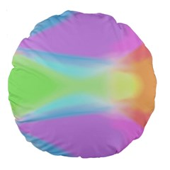 Abstract Background Colorful Large 18  Premium Round Cushions by Simbadda