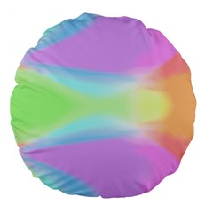 Abstract Background Colorful Large 18  Premium Flano Round Cushions by Simbadda