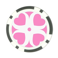 Love Heart Valentine Pink White Sweet Poker Chip Card Guard (10 Pack) by Alisyart