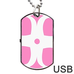 Love Heart Valentine Pink White Sweet Dog Tag Usb Flash (two Sides) by Alisyart