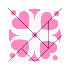 Love Heart Valentine Pink White Sweet Acrylic Tangram Puzzle (6  X 6 ) by Alisyart