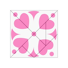 Love Heart Valentine Pink White Sweet Acrylic Tangram Puzzle (4  X 4 ) by Alisyart