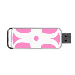 Love Heart Valentine Pink White Sweet Portable Usb Flash (two Sides) by Alisyart