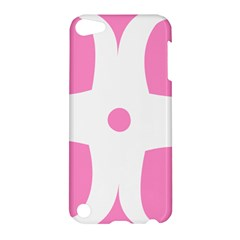 Love Heart Valentine Pink White Sweet Apple Ipod Touch 5 Hardshell Case by Alisyart