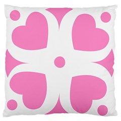Love Heart Valentine Pink White Sweet Standard Flano Cushion Case (two Sides) by Alisyart