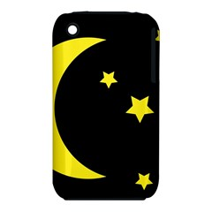 Moon Star Light Black Night Yellow Iphone 3s/3gs by Alisyart