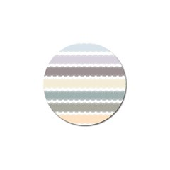 Muted Lace Ribbon Original Grey Purple Pink Wave Golf Ball Marker by Alisyart
