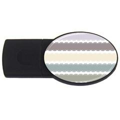 Muted Lace Ribbon Original Grey Purple Pink Wave Usb Flash Drive Oval (2 Gb) by Alisyart