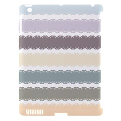 Muted Lace Ribbon Original Grey Purple Pink Wave Apple Ipad 3/4 Hardshell Case (compatible With Smart Cover) by Alisyart