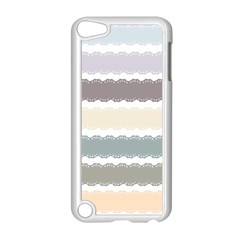 Muted Lace Ribbon Original Grey Purple Pink Wave Apple Ipod Touch 5 Case (white) by Alisyart