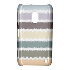 Muted Lace Ribbon Original Grey Purple Pink Wave Nokia Lumia 620