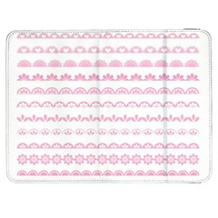 Pink Lace Borders Pink Floral Flower Love Heart Samsung Galaxy Tab 7  P1000 Flip Case by Alisyart