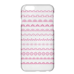 Pink Lace Borders Pink Floral Flower Love Heart Apple Iphone 6 Plus/6s Plus Hardshell Case by Alisyart