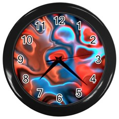 Abstract Fractal Wall Clocks (black) by Simbadda