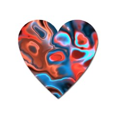 Abstract Fractal Heart Magnet by Simbadda