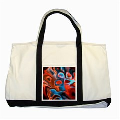 Abstract Fractal Two Tone Tote Bag by Simbadda