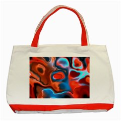 Abstract Fractal Classic Tote Bag (red) by Simbadda
